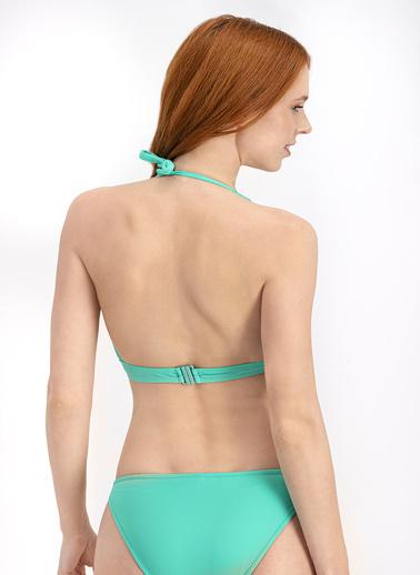 Arnetta  Petrol Yeşil Basic Derin V Bikini Üstü Turkuaz